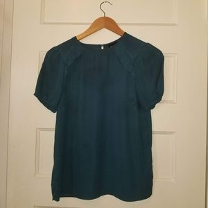 Who What Wear Teal Blouse